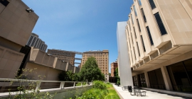exterior view of campus buildings