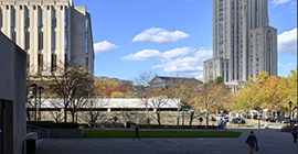 fall view of campus buildings